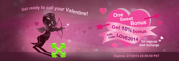 Get ready for Valentine's Day with this 10% bonus