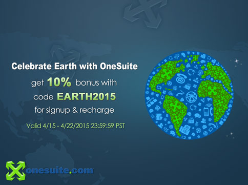 Celebrate Earth with OneSuite