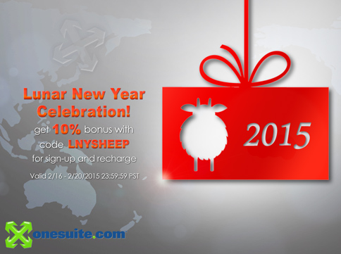 Happy Sheep Year Red Envelope 10% Bonus