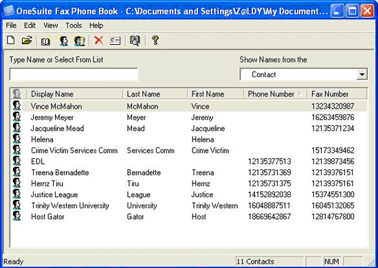 How To Import Address Book To Onesuite Fax Driver