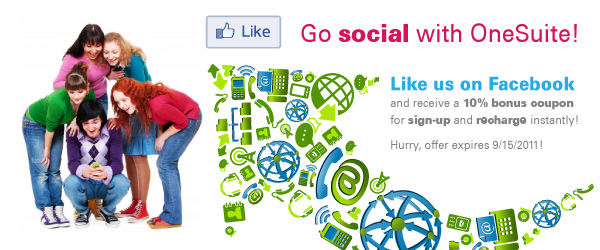 Like us on Facebook to get 10% bonus for sign-up and recharge