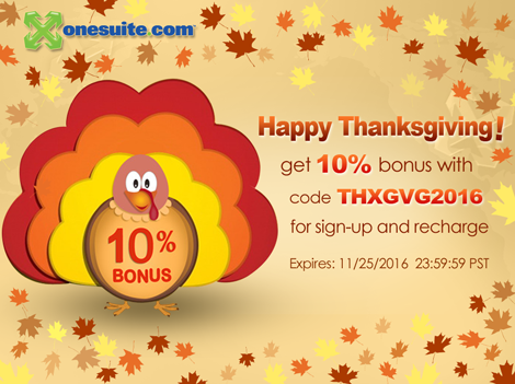 OneSuite 2016 Thanksgiving 10% Coupon Code