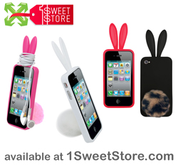 Rabbit Ear Case Cover for iPhone4/4S available at 1SweetStore.com