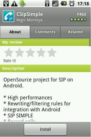 OneSuite on Android Using CSipSimple